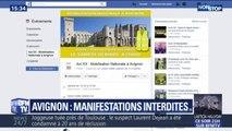 Gilets jaunes: manifestations interdites à Avignon après des appels lancés sur les réseaux sociaux pour s'y mobiliser