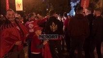 Ndizet atmosfera në Shkodër, tifozët ia marrin këngës dhe valleve para ndeshjes së Kombëtares