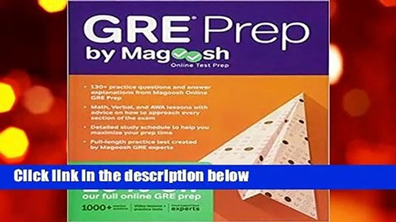 GRE Prep by Magoosh For Kindle