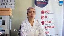 Malika / En charge la collation des donneurs à l'Etablissement Français du sang de Périgueux