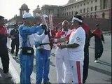 La India, el país del exilio tibetano, acoge el relevo de la llama Olímpica