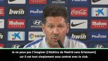 """Atlético - Simeone : """"Je ne peux pas imaginer l'équipe sans Griezmann"""""""