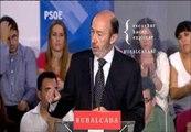 """Rubalcaba promete """"echar una mano"""" a los empresarios con dinero público para ayudarles a contratar"""