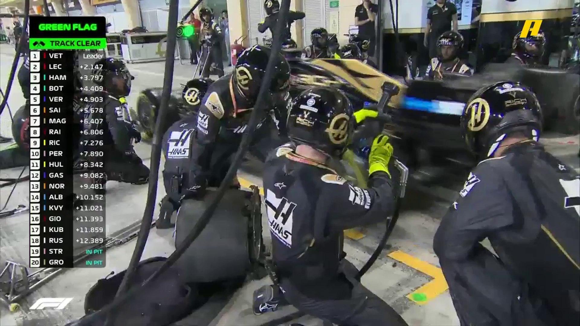 بداية سيئة لكروجان وماغنوسن في سباق جائزة البحرين الكبرى