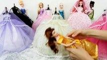La princesse Elsa Anna Robe de Poupée Barbie Robe de Mariée Boneca Vestido e Roupasباربي robe de mariée princesse