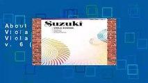 About For Books  Suzuki Viola School, Vol 6: Viola Part: Viola Part v. 6 (Suzuki Method