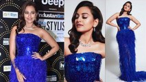 Sonakshi Sinha looks amazing in blue gown at HT Style Awards |FilmiBeat