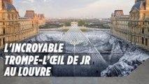 L'incroyable trompe-l'œil de JR autour de la pyramide du Louvre