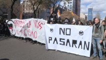 Al menos cinco detenidos y cinco heridos en las protestas independentistas contra Vox en Barcelona