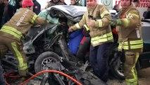 Tuzla'da iki aracın çarpıştığı feci kaza: 1 ölü 5 yaralı