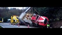 Accident camion de Pompiers à La Gleize
