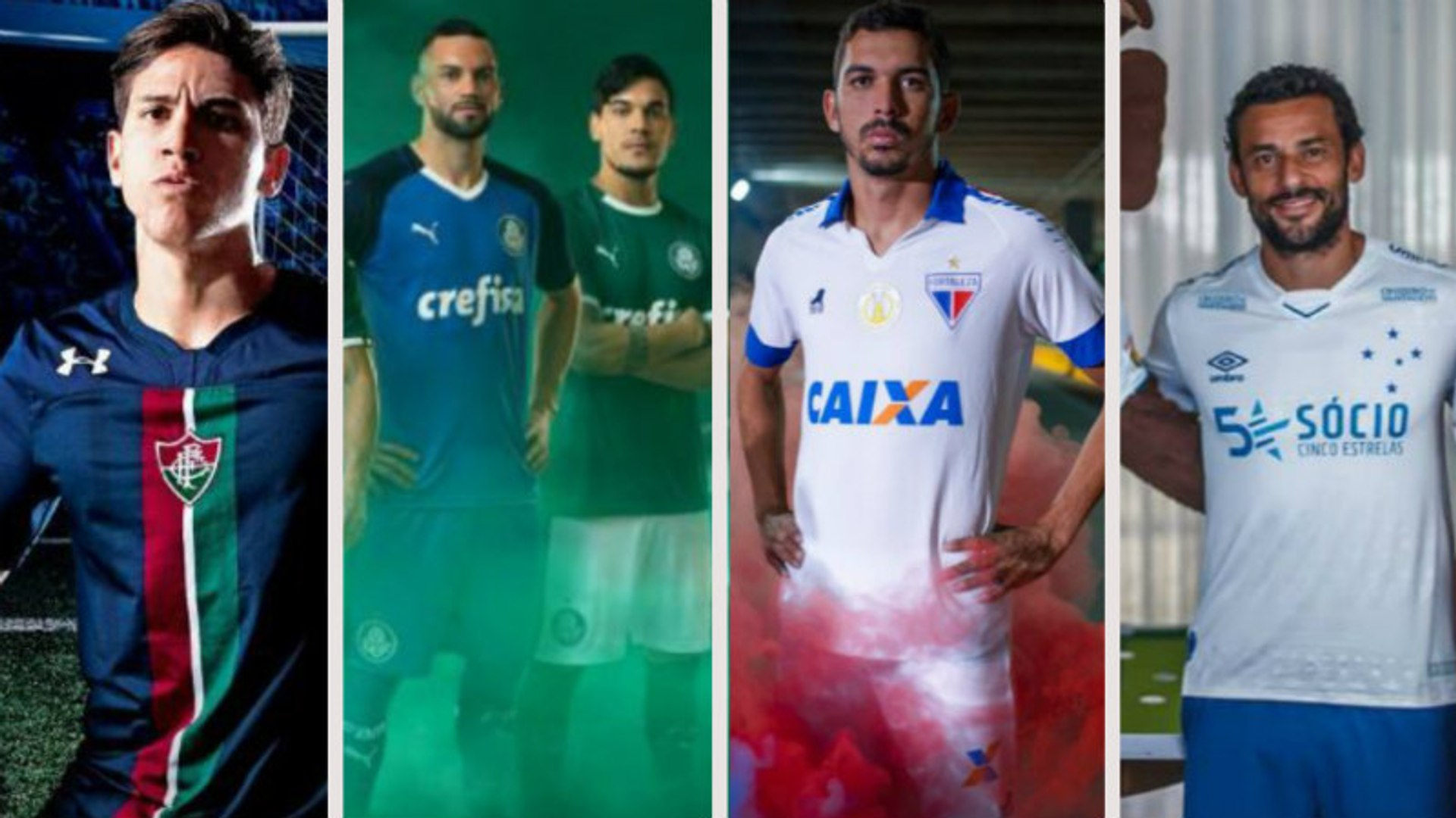 Veja as camisas já lançadas pelos clubes do Brasileirão para 2019