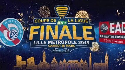 Interview de fin de match de RC Strasbourg Alsace - EA Guingamp - Finale Coupe de la Ligue BKT 2019