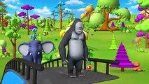 Jeu de Bowling Jouer par le Zoo et les Animaux de la Grange à Childrens Parc d'attraction avec de Drôles d'Animaux de la Forêt | Peony Noakes