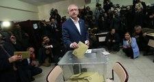 CHP Lideri Kemal Kılıçdaroğlu Ankara'da Oyunu Kullandı