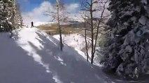 Un skieur équipé dune caméra est emporté dans une avalanche