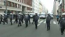 Betörték az Európai Bizottság épületének ablakait a tüntetők