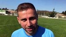 Coupe du Rhône (8ème de finale) – Julien GIMENO réagit après la qualification de l'ES GENAS contre l'O. BELLEROCHE