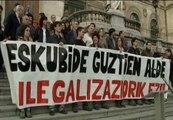Cientos de simpatizantes de Bildu se manifiestan en el País Vasco y Navarra