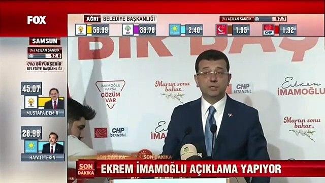 Ekrem İmamoğlu oy oranını açıkladı: Yıldırım'ın önünde