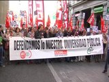 Alumnos y profesores universitarios protestan en Madrid