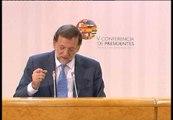 Rajoy habla del acuerdo en la Conferencia de Presidentes y de la petición del rescate