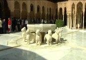 Reapertura del Patio de los leones de la Alhambra de Granada