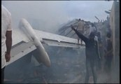 Primeras imágenes del avión siniestrado en Nigeria