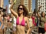 Madrid recibe el buen tiempo con un 'flashmob'