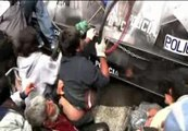 Varias personas resultan heridas y cuatro detenidas tras una manifestación de incapacitados