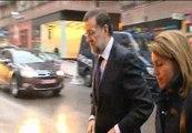 Rajoy visita la capilla ardiente de Fraga
