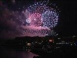 Espectaculares fuegos artificiales en Gijón