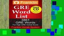 Full version 2018 Franklin GMAT Word List: 4507 GMAT Words