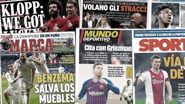 Karim Benzema fait les gros titres en Espagne, Lionel Messi chasse le roi Pelé