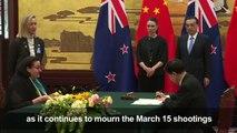 New Zealand PM Jacinda Ardern visits Beijing
