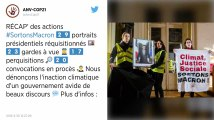 Près d'Angers. Ils décrochent un portrait de Macron, un militant de la Justice climatique arrêté