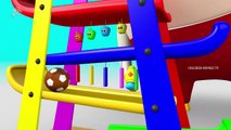Learn Colors with Wooden Hammer Apple Slider Educational Toys with Soccer Balls