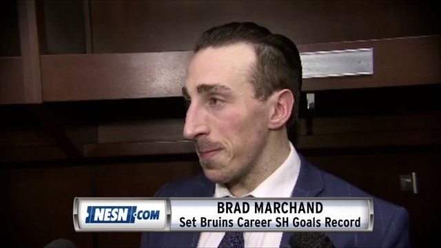 Brad Marchand On Setting Bruins Career Short Handed Goals Record