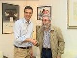 Pedro Sánchez se reúne con Cándido Méndez en la sede de UGT