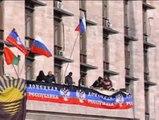 Los manifestantes prorrusos declaran la independencia de la República de Donetsk