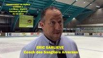 HOCKEY SUR GLACE 2019-03-30 Interview Eric Sarliève, Coach des Sangliers Arvernes de Clermont-Ferrand