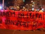Protesta en Barcelona contra la subida del transporte público