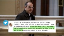 Jordi Turull ingresa en la enfermería de la cárcel de Lledoners tras 13 días de huelga de hambre