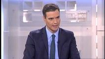 """Sánchez: """"Cuando era líder de la oposición apoyé el 155 cuando fue necesario"""""""