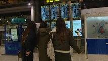 Los fuertes vientos de la borrasca Ana obligan a cancelar o desviar decenas de vuelos en España