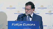 """Rajoy anuncia un crecimiento del 3% para el año que viene si """"vuelve la normalidad"""" a Cataluña"""
