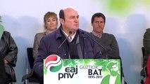 """Ortuzar dice que """"es hora de negociar y acordar el estatus político"""" de Euskadi y Cataluña"""