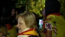 Concentración a favor de la unidad de España en Sant Cugat del Vallès
