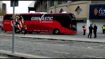 Real Zaragoza-Nàstic  Llegada del Nàstic de Tarragona