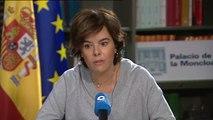 """La vicepresidenta avisa """"El Gobierno tomará medidas"""" ante una declaración de independencia"""